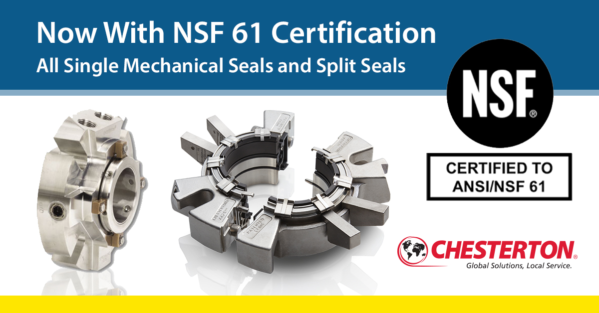 Chesterton NSF 61 Certified Mechanical Seals